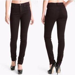 J brand skinny jeans noir red maroon pants